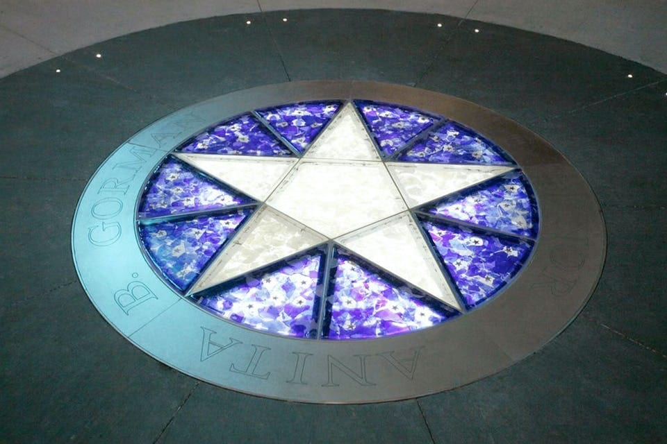 CUSTOM ENGRAVED METAL FLOOR FOR STARLIGHT THEATRE DONOR'S CIRCLE.