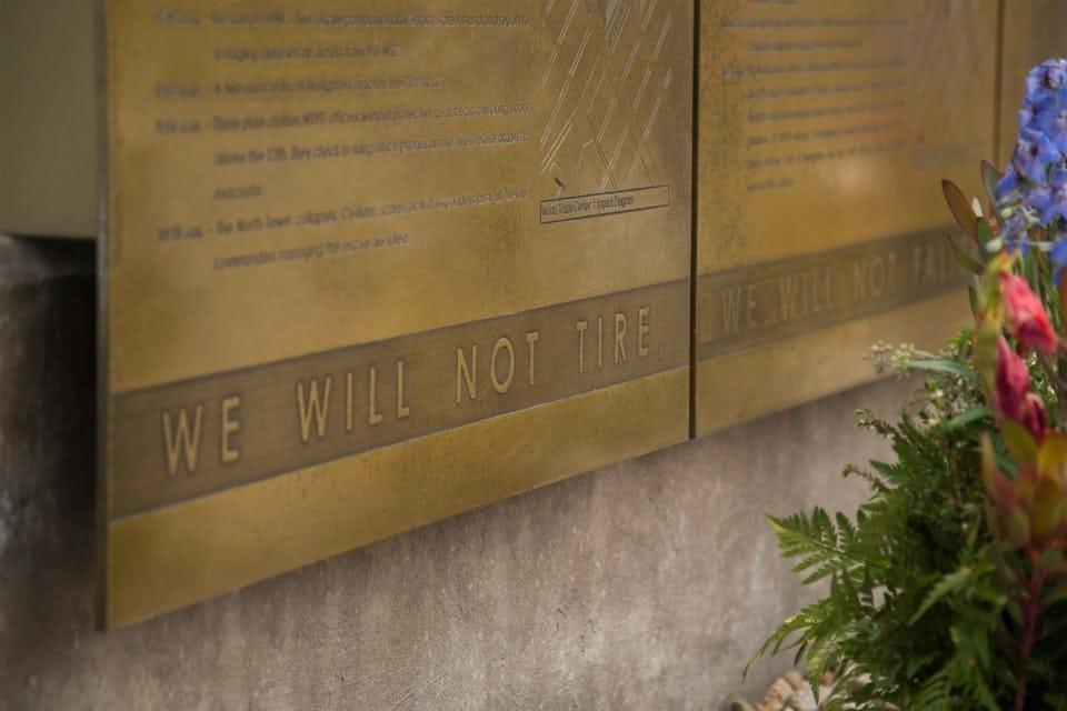 CUSTOM ENGRAVED LETTERING FOR 911 MEMORIAL.