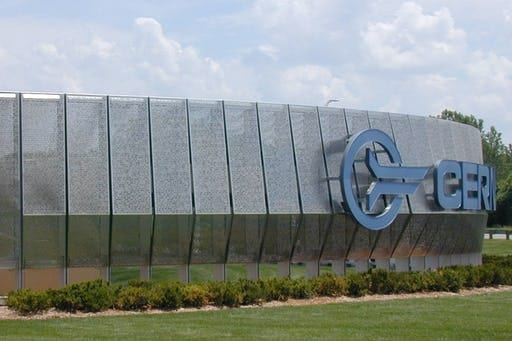 Entry signage for Cerner Headquarters.