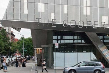 Custom signage for The Cooper Union.