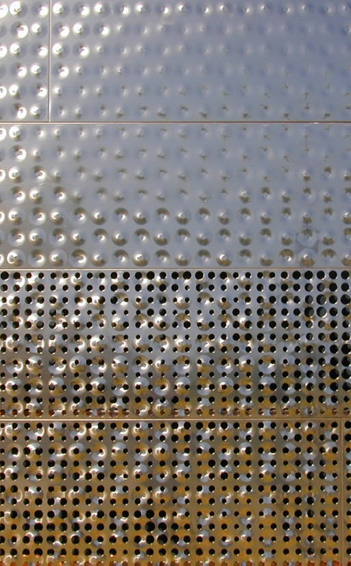 de Young Museum, bumped and perforated