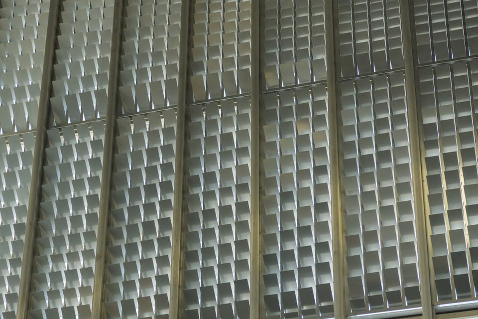 RECTANGULAR LOUVERED PERFORATIONS PROVIDE ENHANCED LIGHT CONTROL