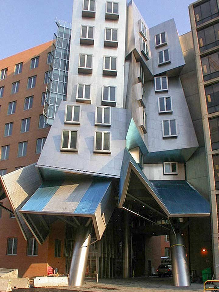Construction comparison of the MIT Stata Center giraffe building.