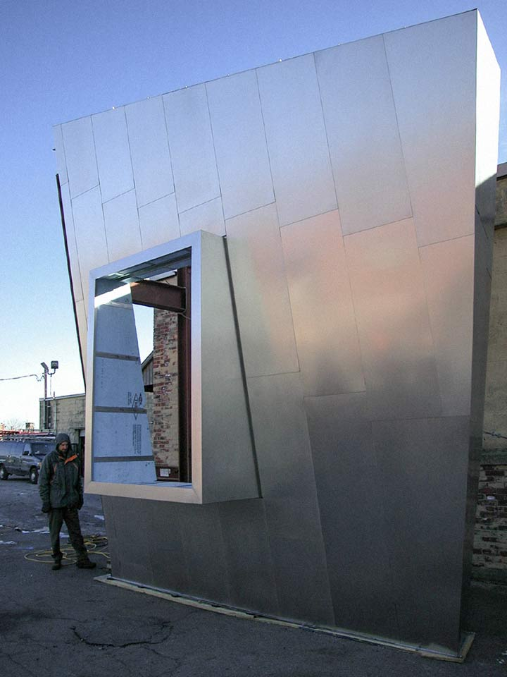 Mockup for one of the buildings at MIT Stata Center.