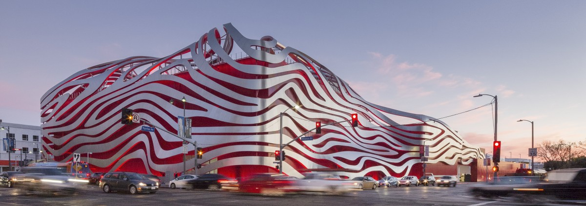 Petersen Automotive Museum with ZEPPS facade by Zahner.