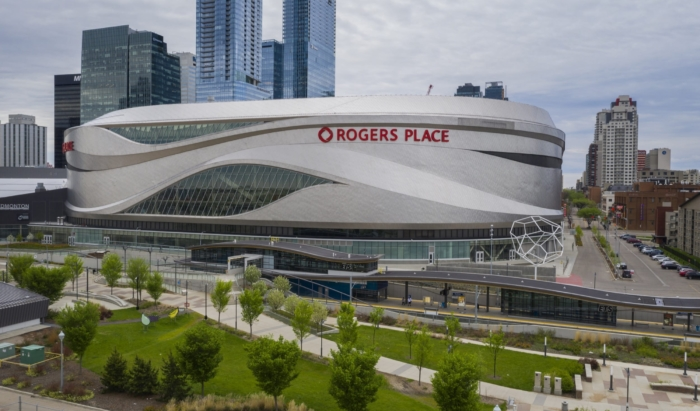 Rogers Place Arena Exterior Facade