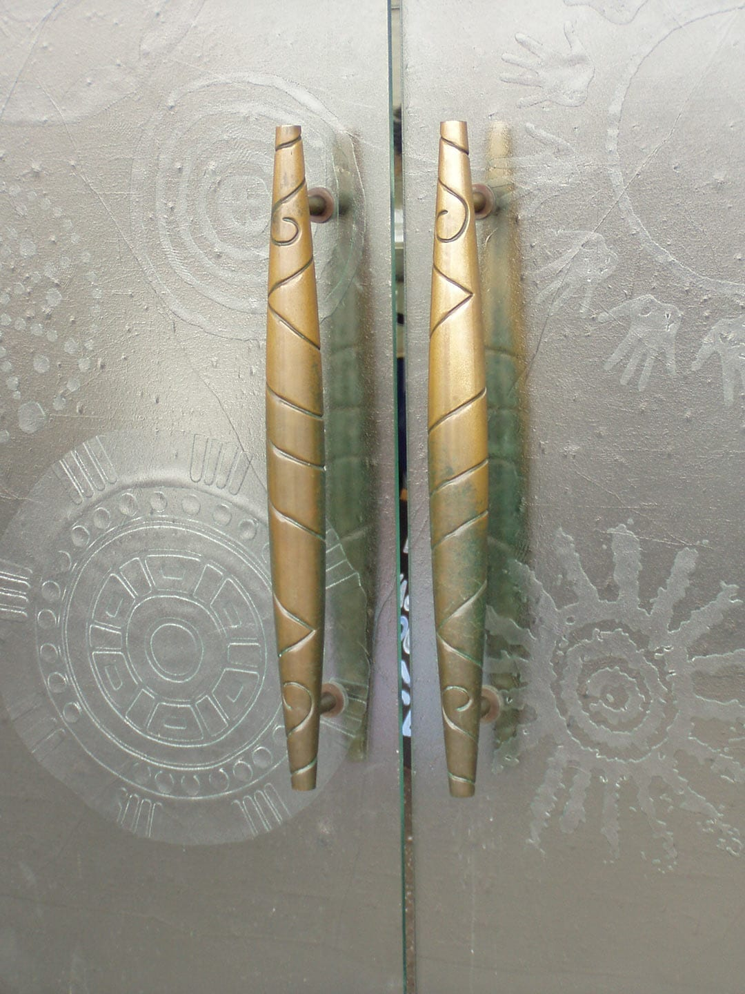 Custom Door Handles at the National Museum of the American Indian in Washington D.C.