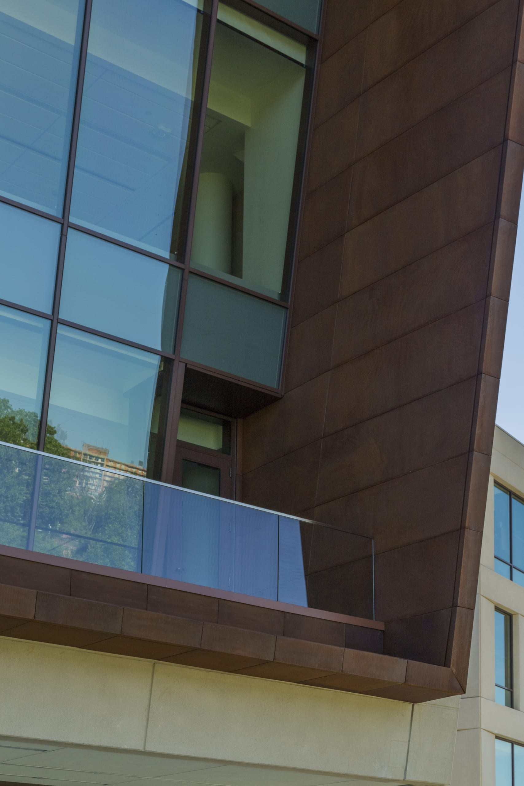 Detail of the Solanum Steel Balcony at Capitol Federal Hall