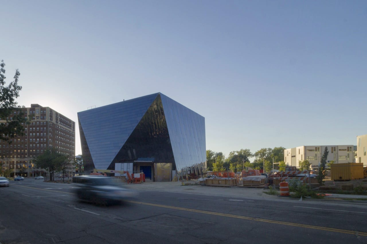 Photograph of the MOCA Cleveland nearing completion.