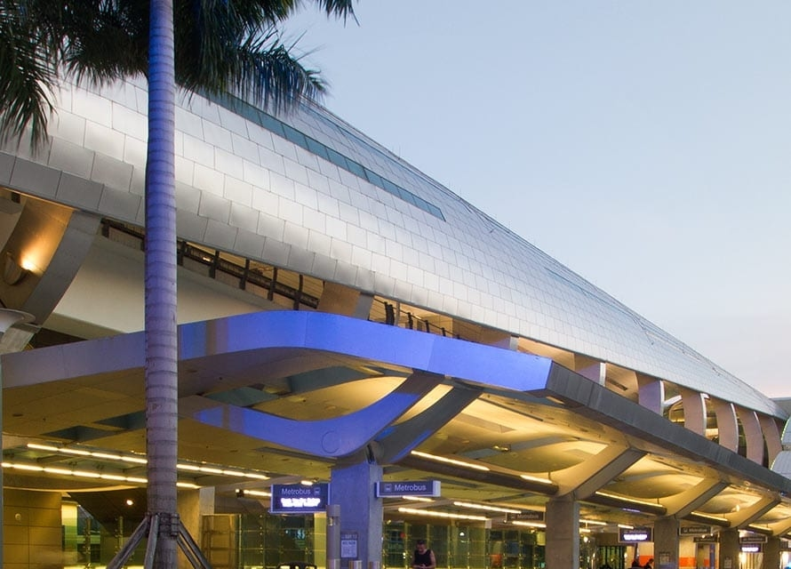 Angel Hair® Stainless Steel on the Miami Intermodal Center