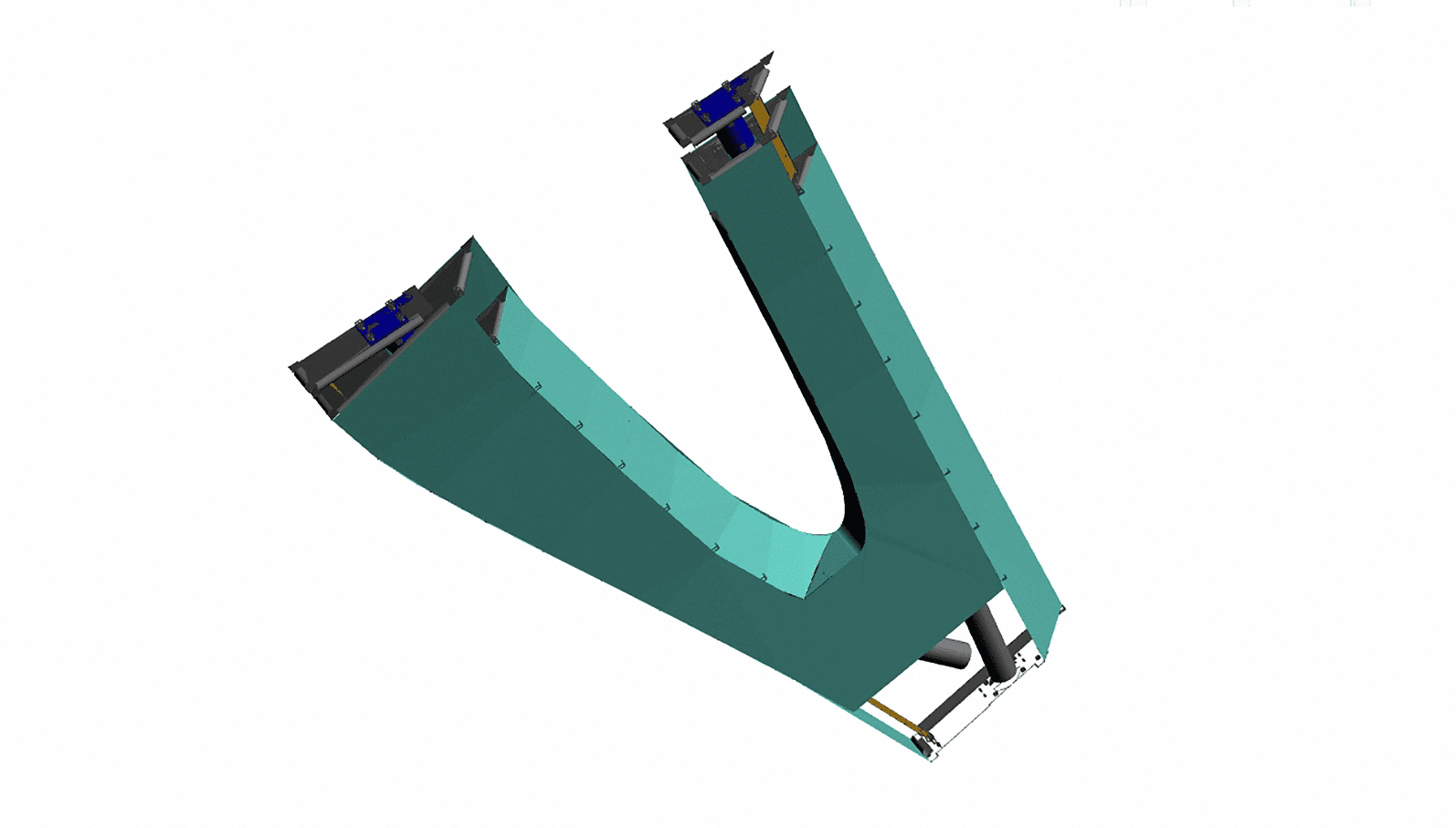 3D Model of a single ZEPPS Assembly for the Petersen Automotive Museum.