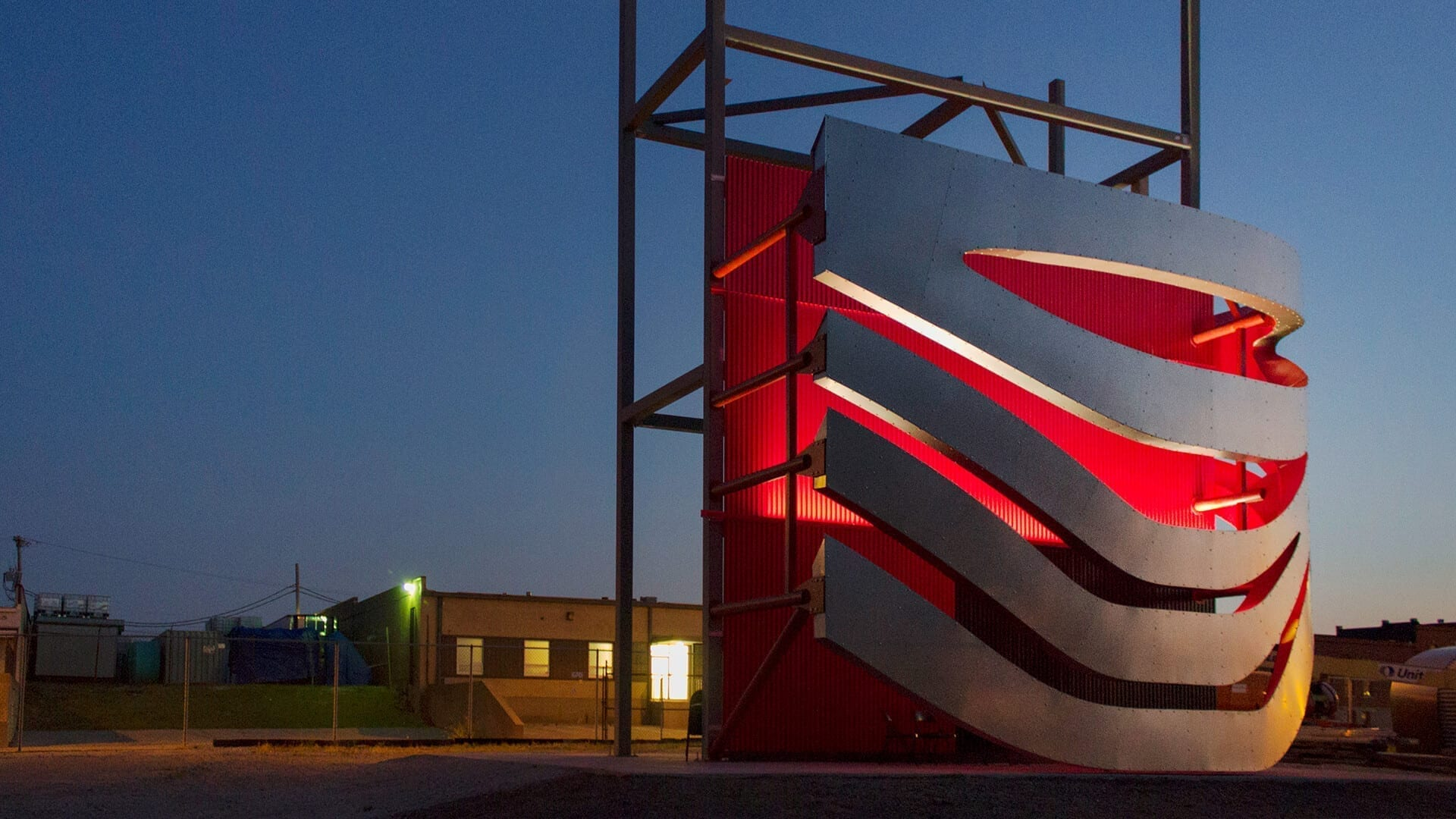 Design Assist Mockup at dusk for the Petersen Automotive Museum.