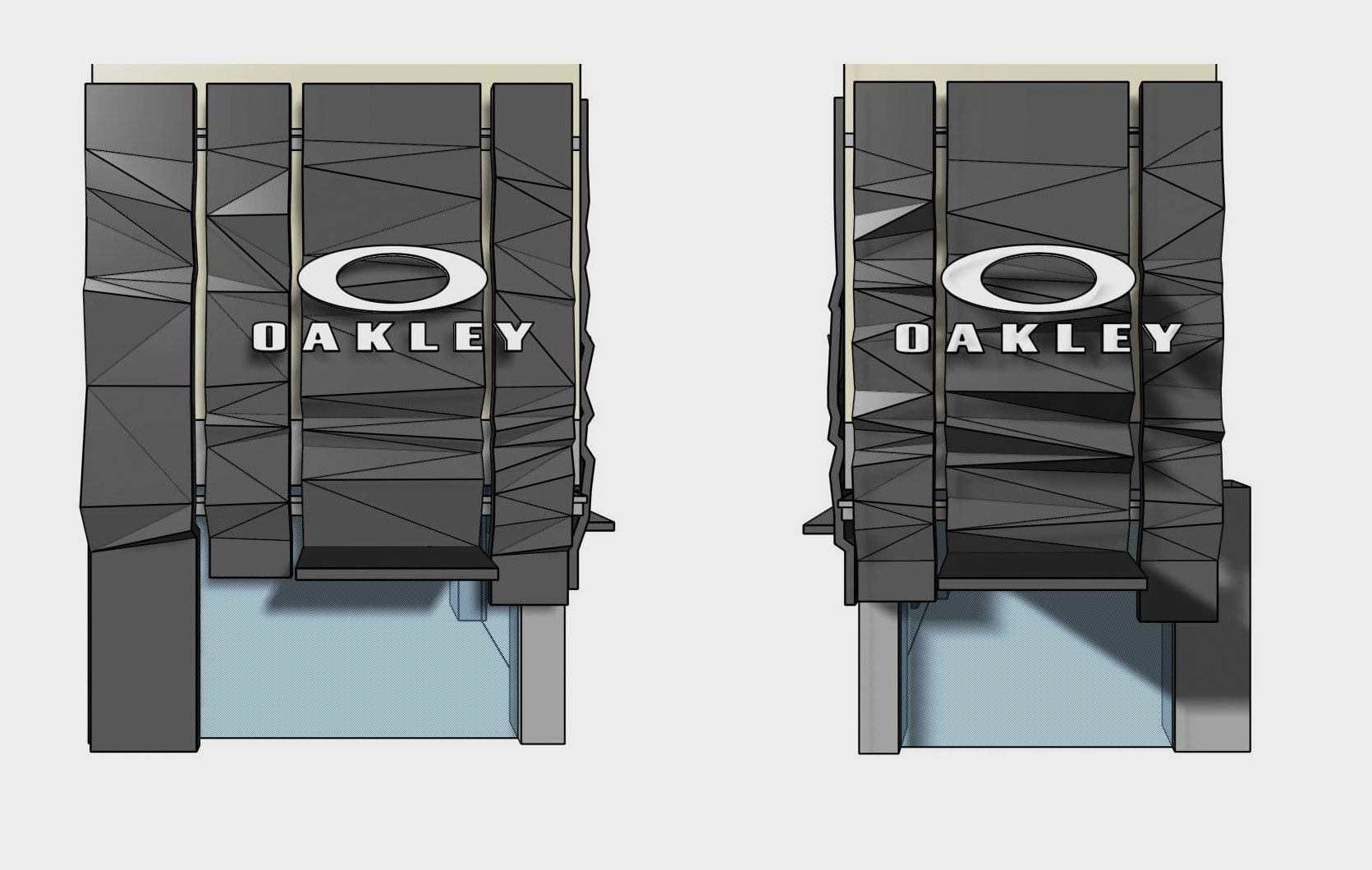 Architect's renderings of the Oakley Facade for Fifth Avenue Flagship.