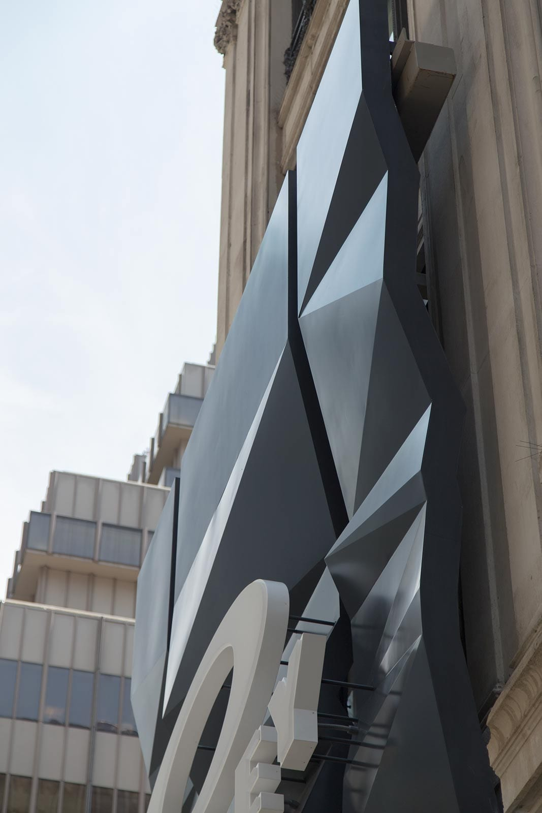 Details of Oakley Fifth Avenue in New York City.