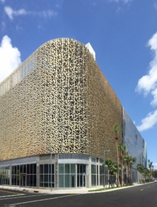 Photo of Leong Leong facade for the Miami City View Garage