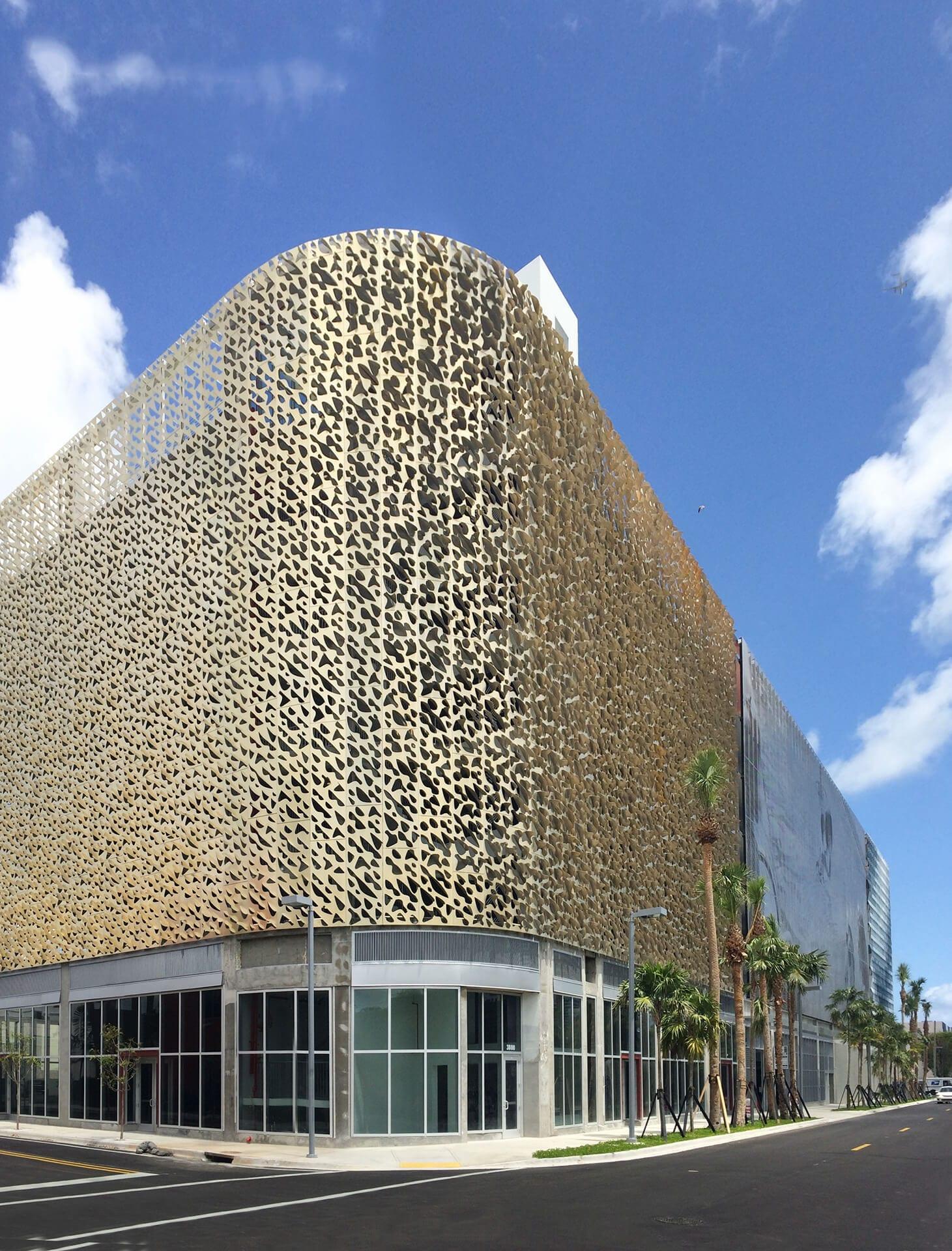 Leong Leong facade for the Miami City View Garage.