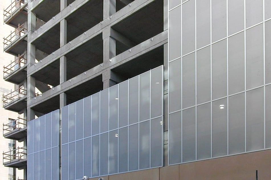 Standard Parking Garage During Construction.