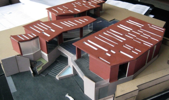 Architect's model of the Daeyang Gallery and House