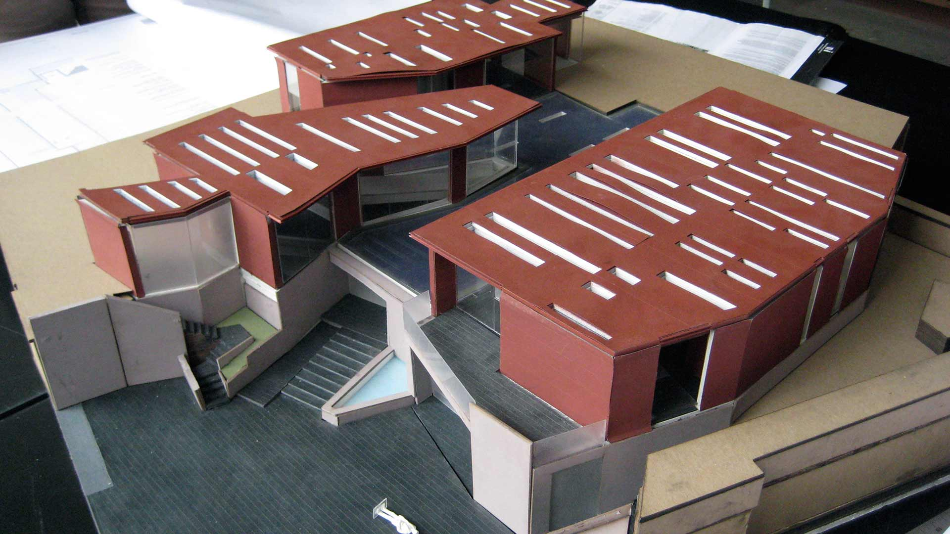 Architect's model of the Daeyang Gallery and House.