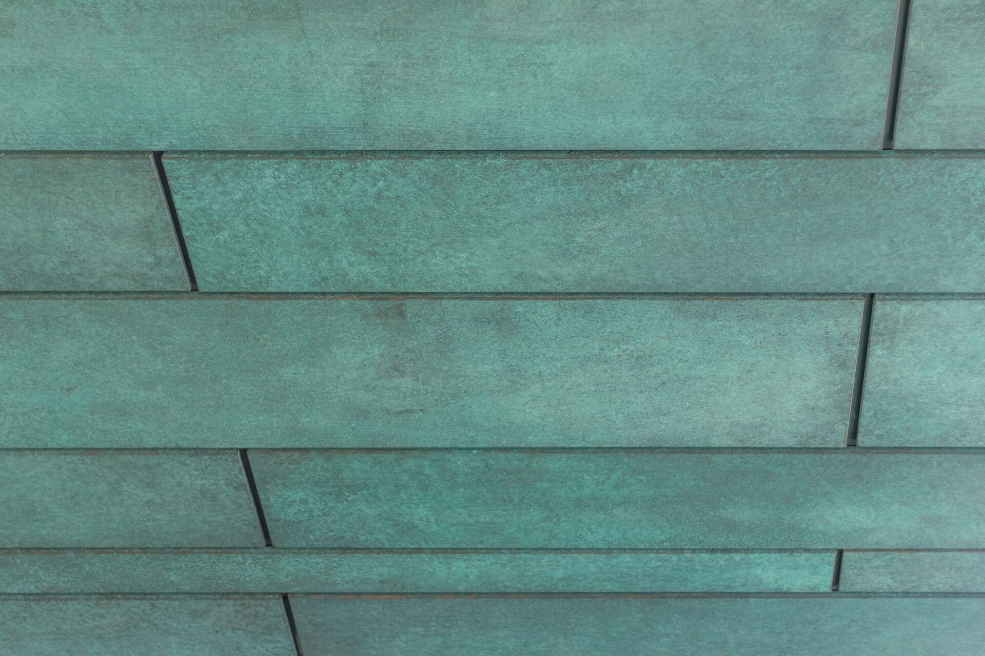 Columbus Museum of Art, detail of the custom copper soffit.