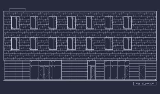 Photo of custom shingle layout