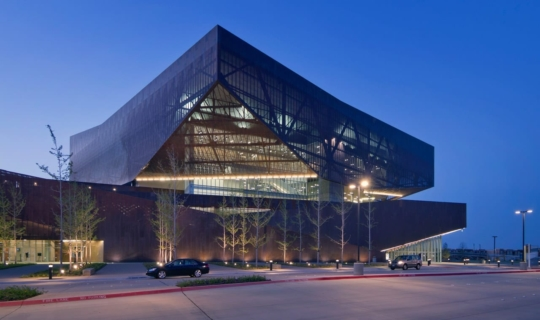 Irving Convention Center at Dusk.