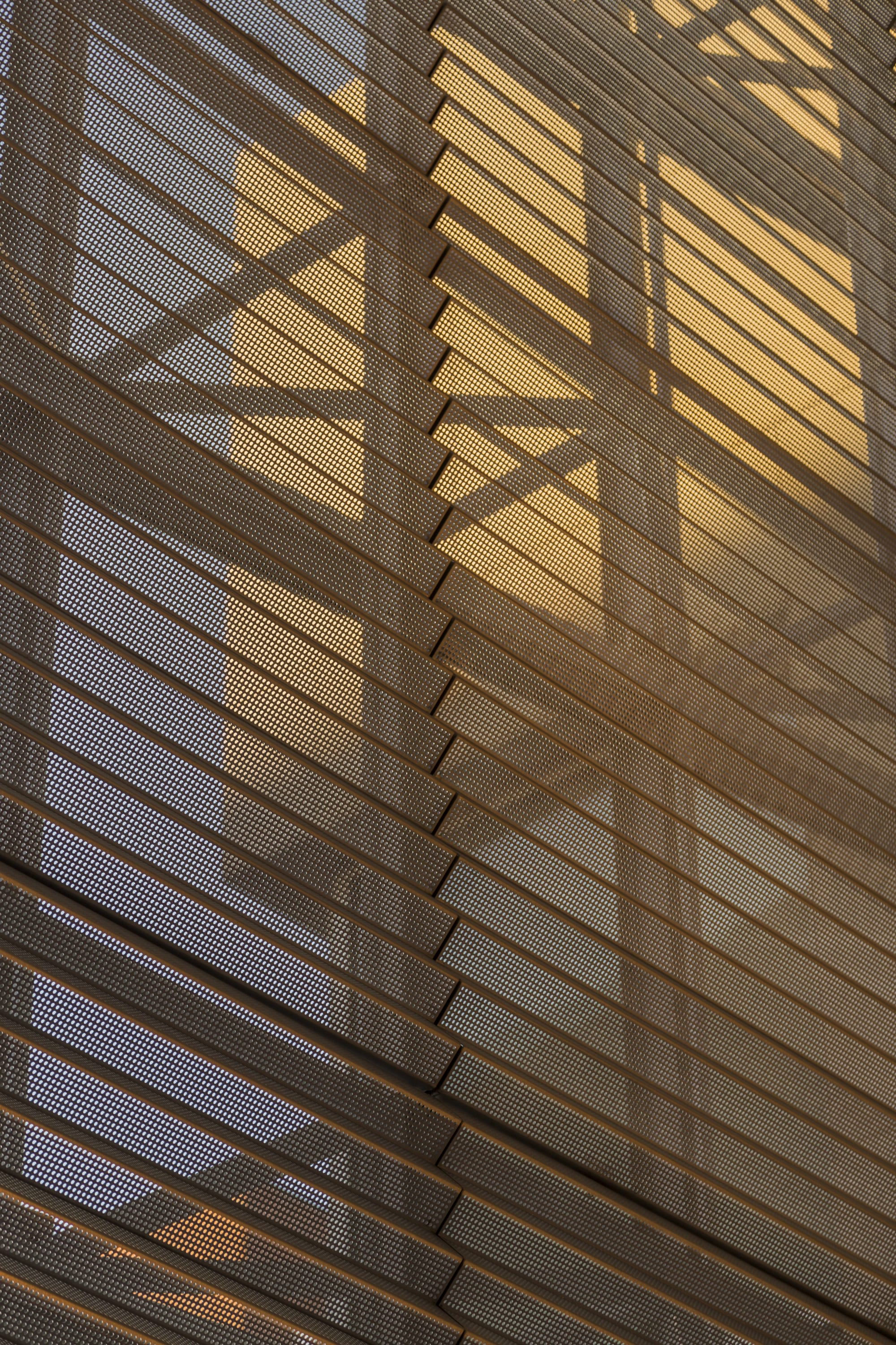 Detail of the perforated metal angle panels