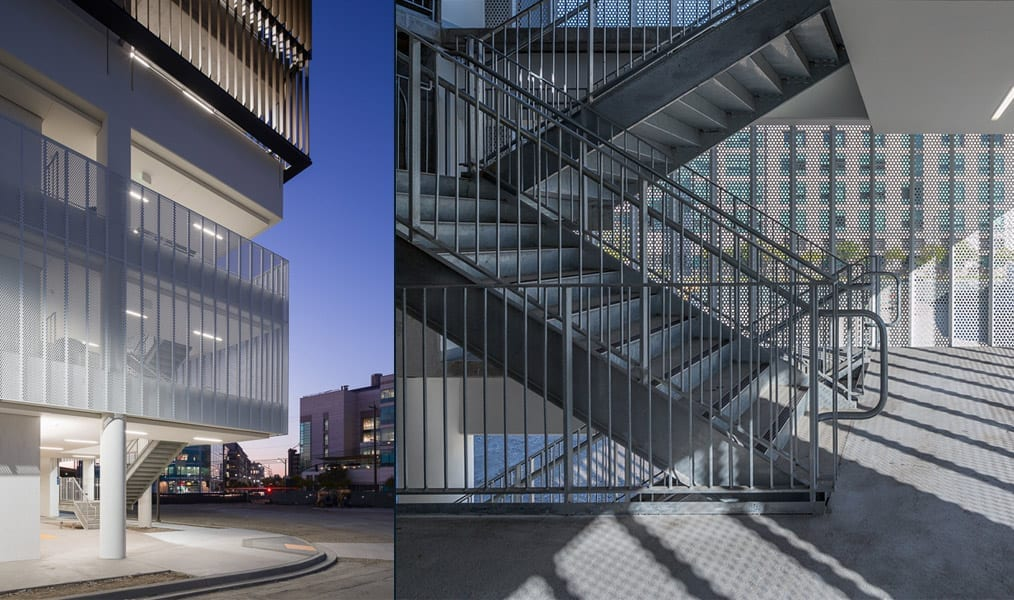 Zahner photography of ucsf-perforated-mesh-parking-garage