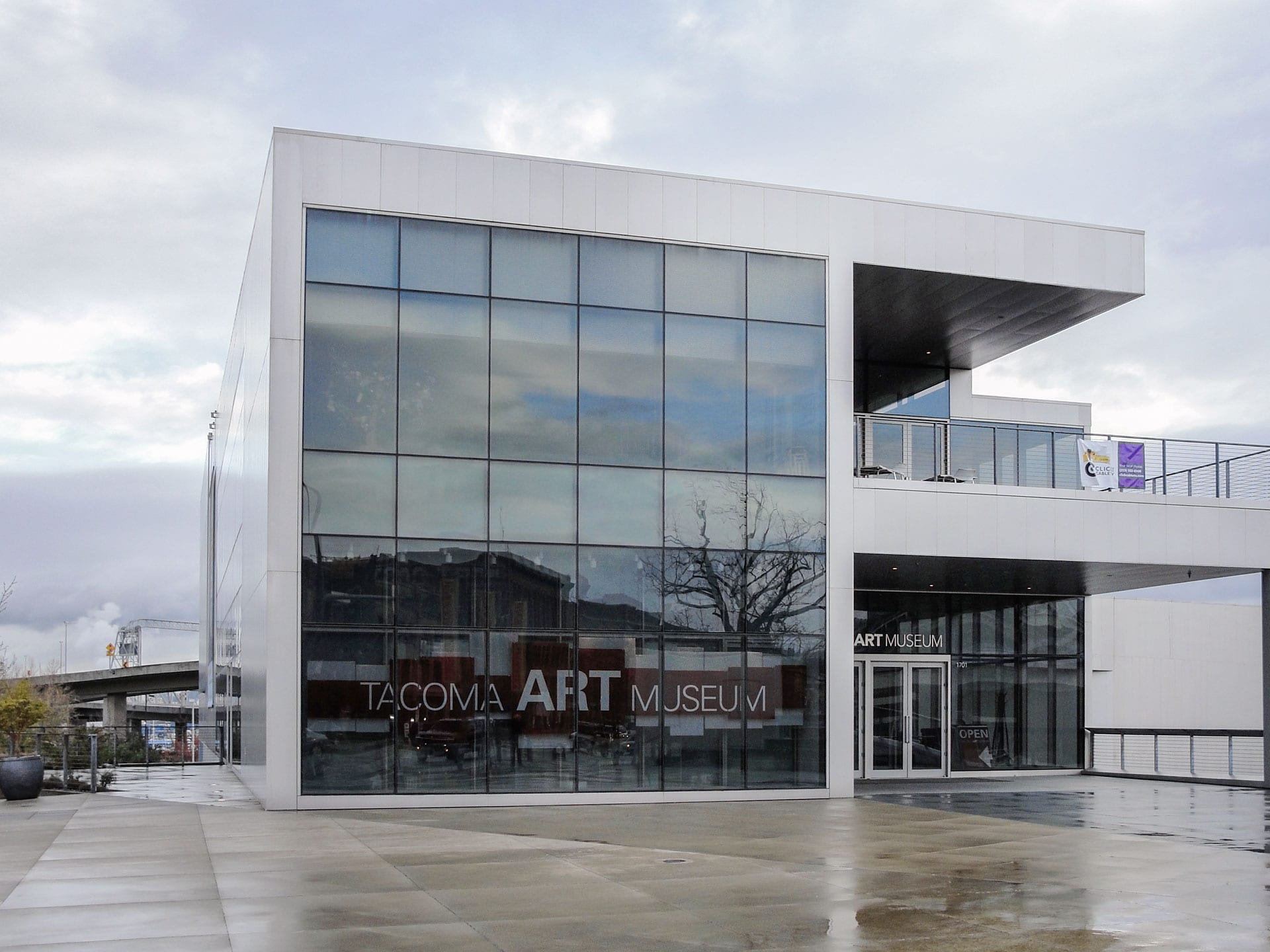 The Tacoma Art Museum in downtown Tacoma, Washington.