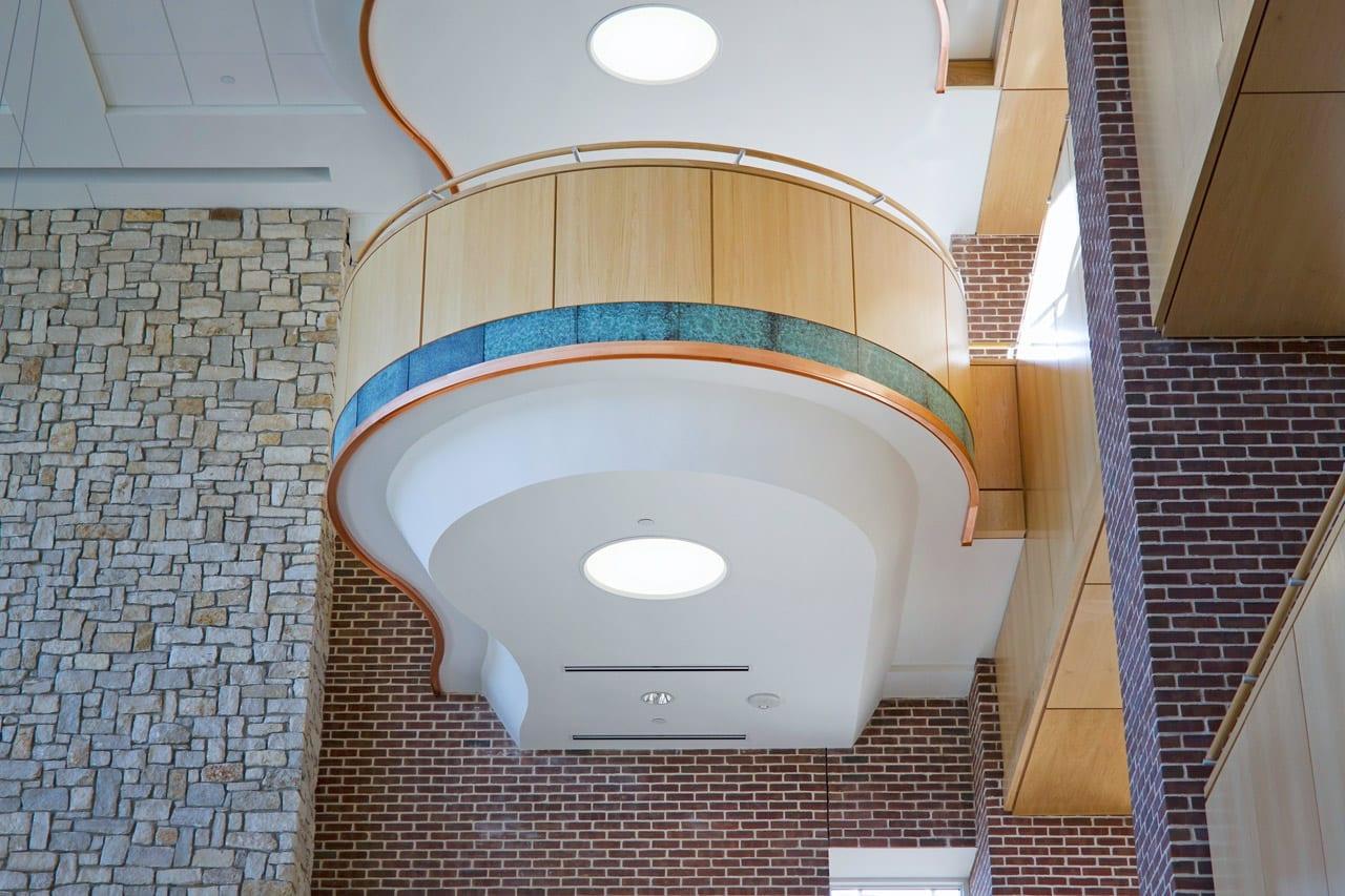 SMU Collins Center balconies in the main atrium.