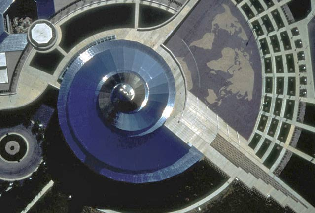Aerial photograph of the Independence Temple in Missouri.