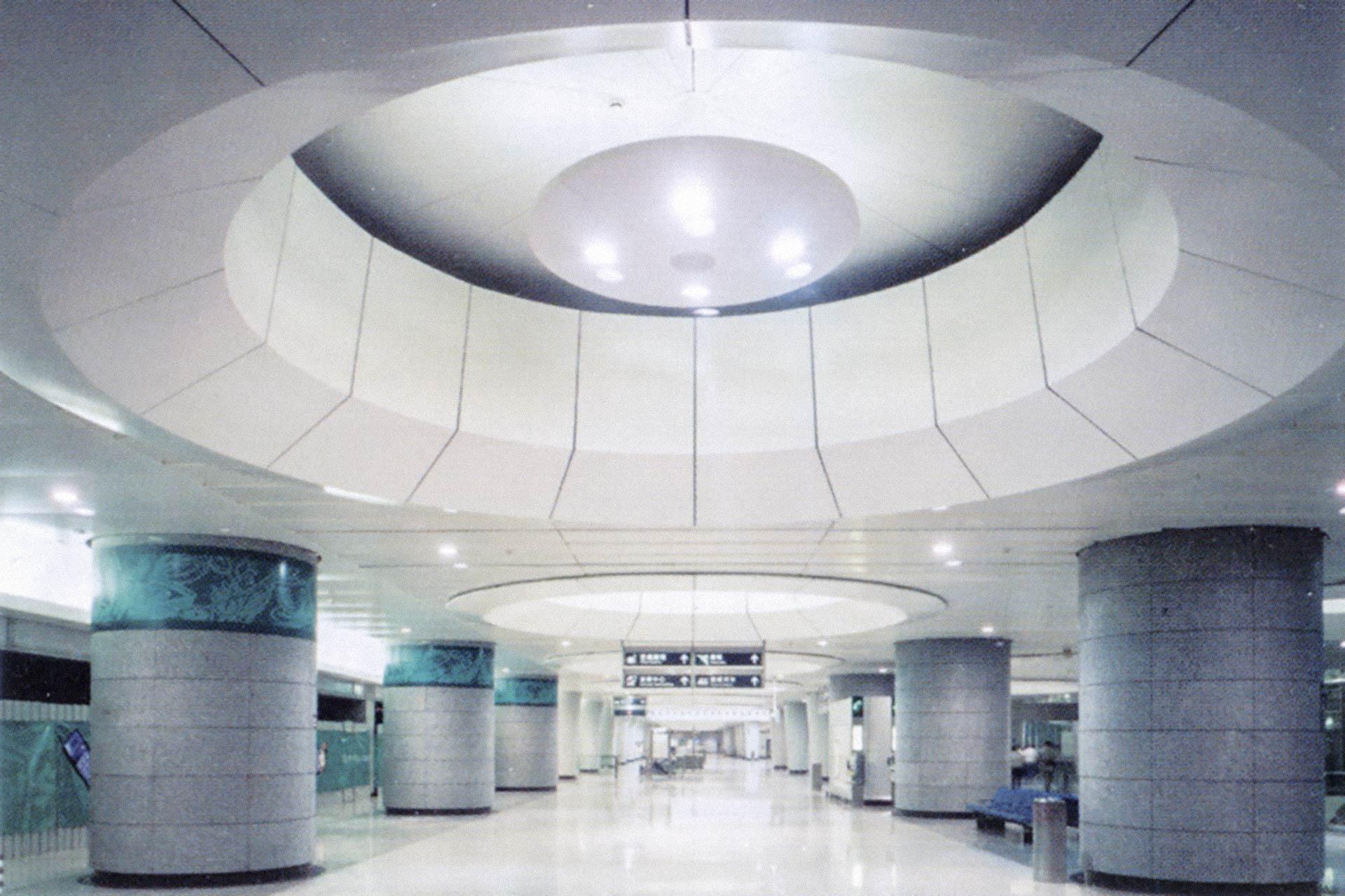 Interior painted metal systems, Kowloon Station, Hong Kong.