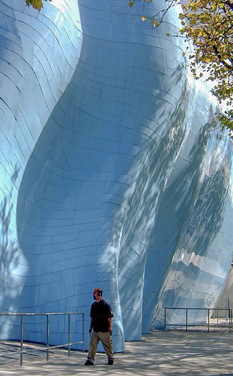 EMP MUSEUM ALUMINUM SHINGLE.