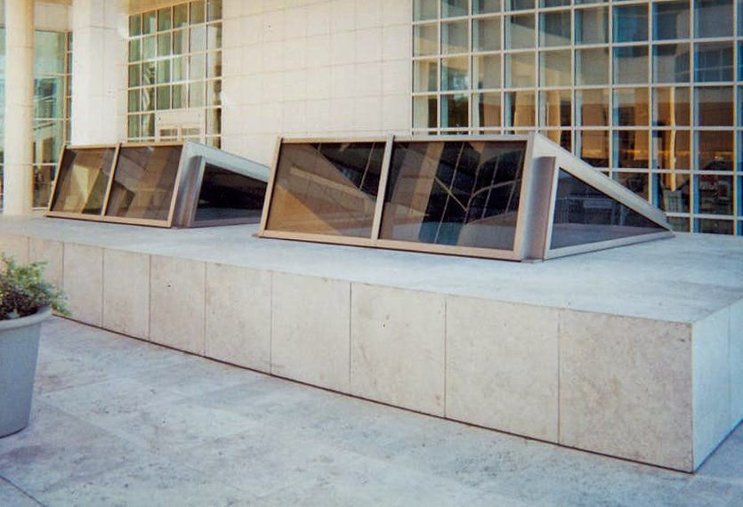 SKYLIGHTS MANUFACTURED BY ZAHNER FOR THE THE GETTY MUSEUM.