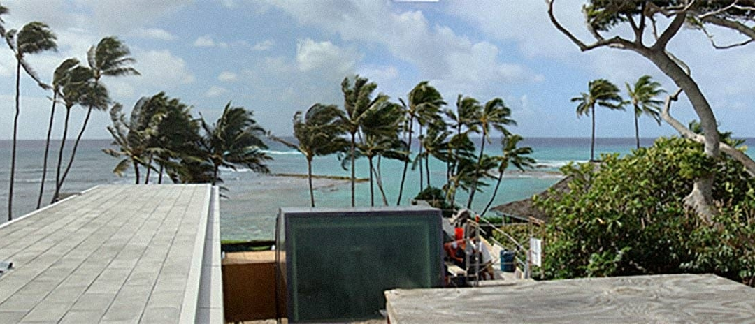 Panoramic photo of the Waipolu Gallery and Residence during construction