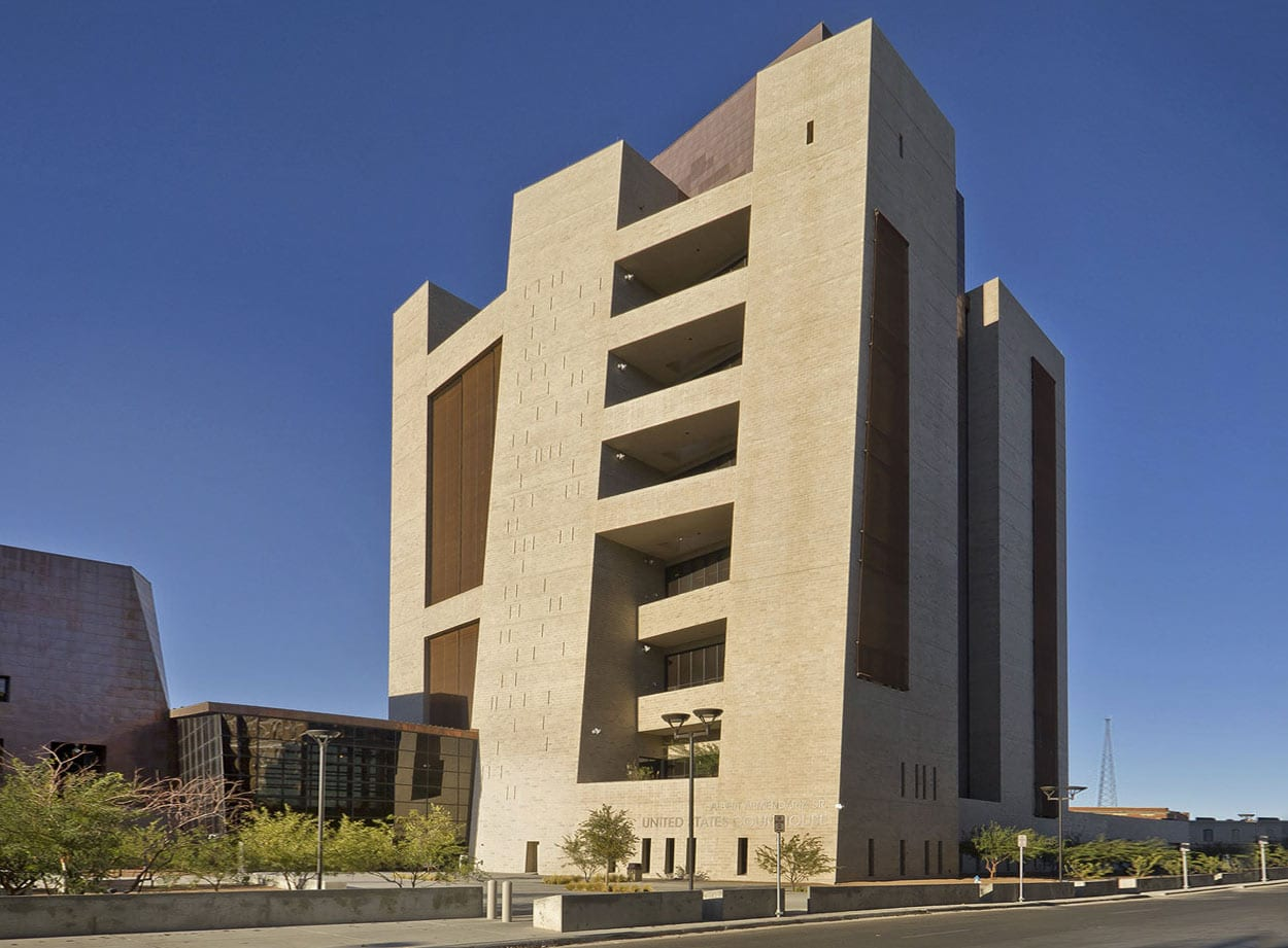 El Paso Courthouse south elevation.