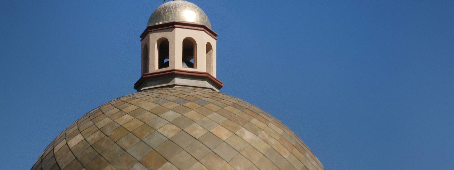 Roano™ Zinc patina featured as part of the Plaza Dome