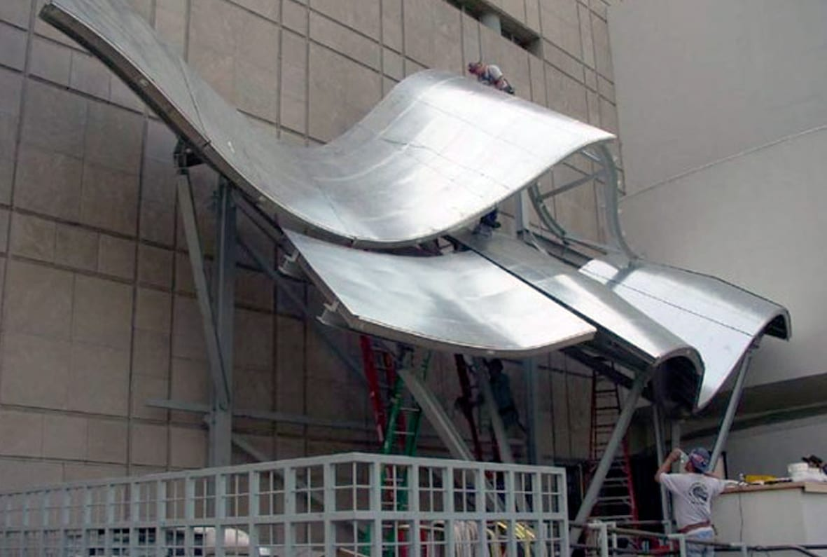 Guggenheim Canopy during its installation.
