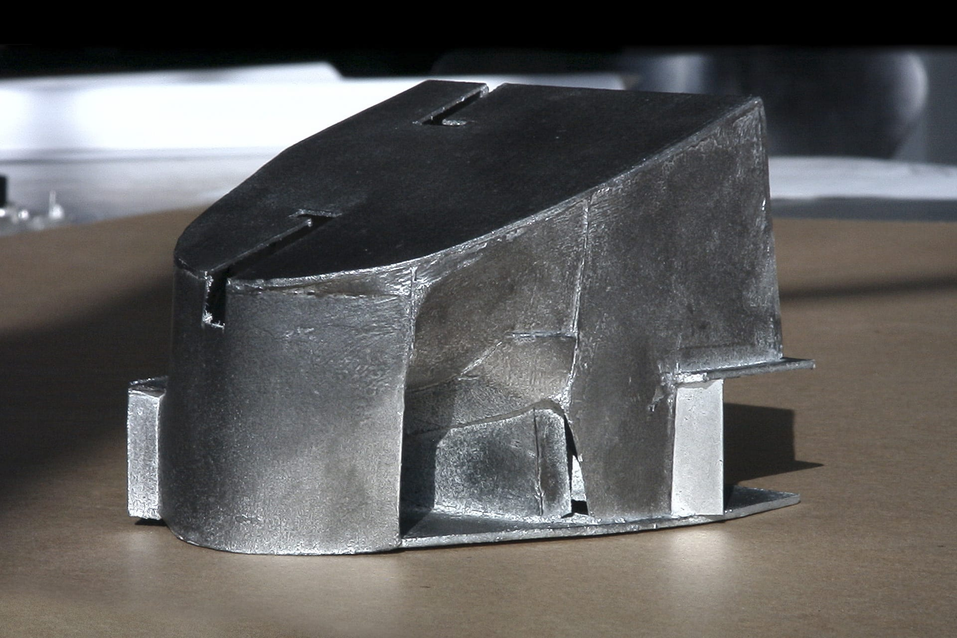 Physical model by Steven Holl Architects for the Turbulence House.