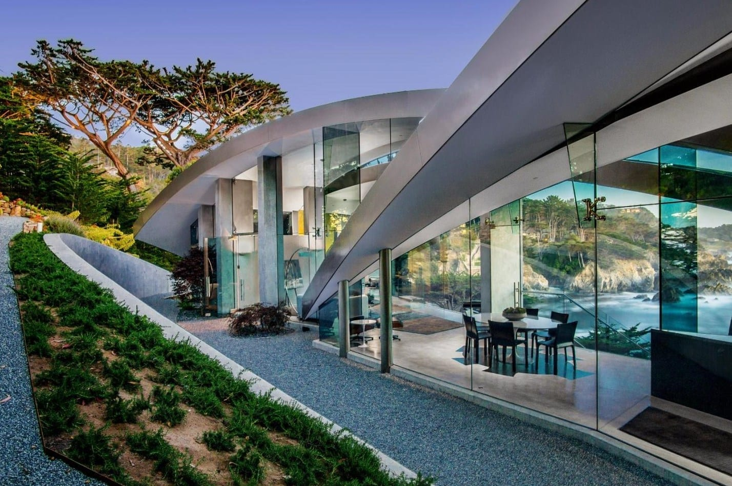 East elevation of Serenity residence by Wallace E. Cunningham.