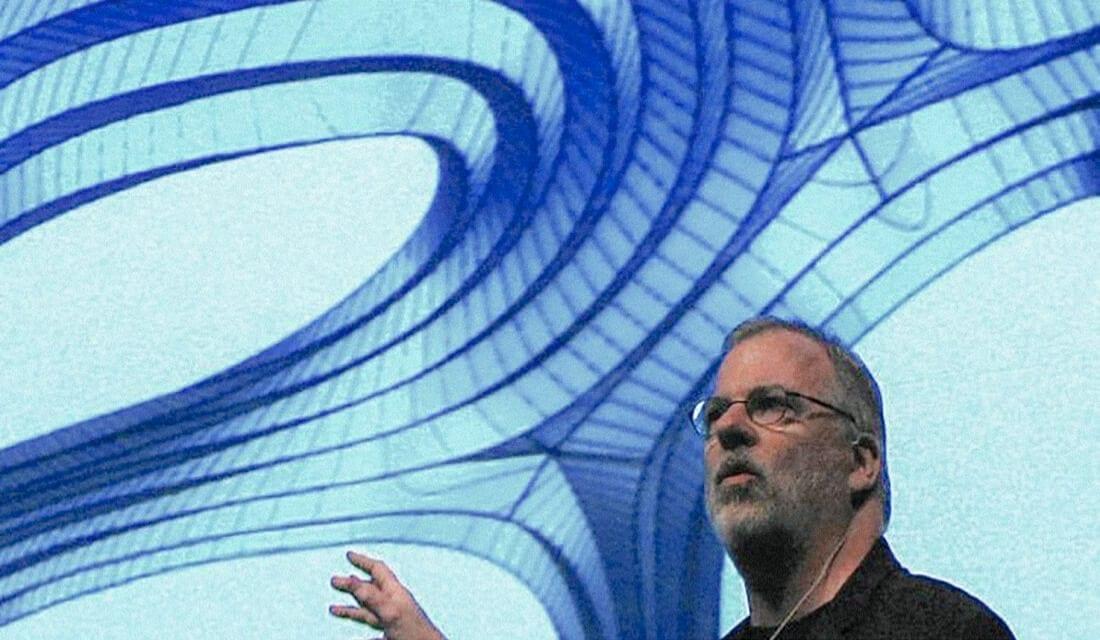Bill Zahner, CEO / President, A. Zahner Company, presenting a study of Chrysalis