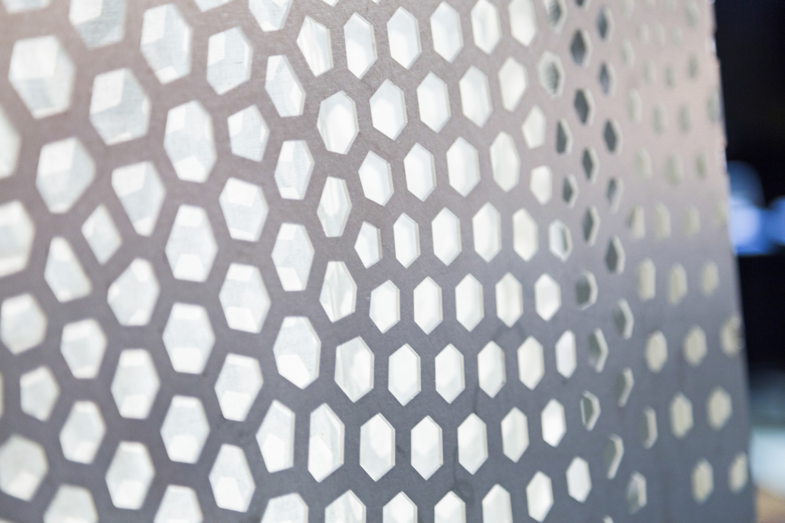 Working with engineers, the perforated metal can be endlessly customized.