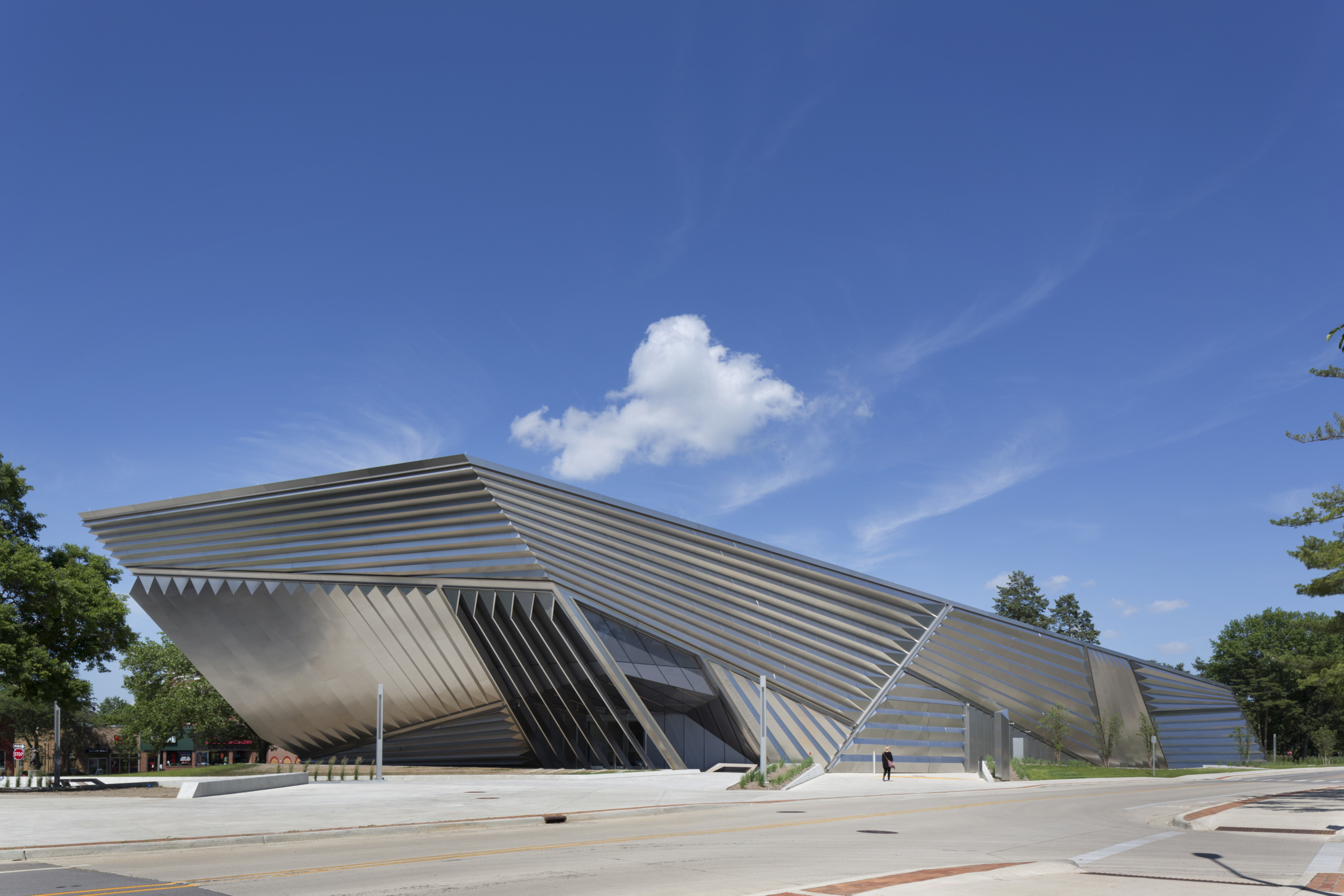 Exterior of the Eli and Edythe Broad Art Museum.