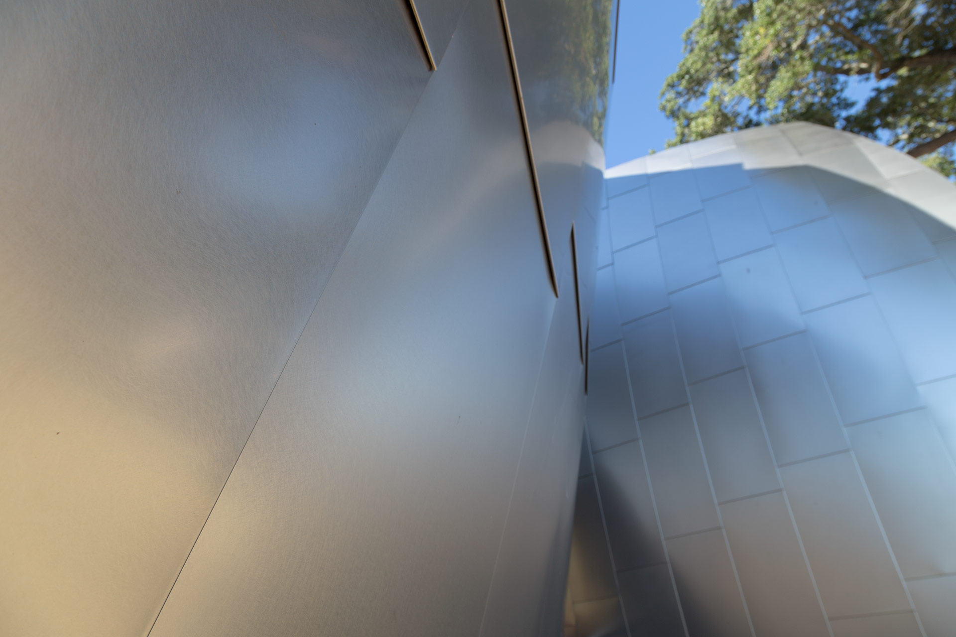 Ohr O'Keefe Museum Pods detail, designed by Frank Gehry Partners.