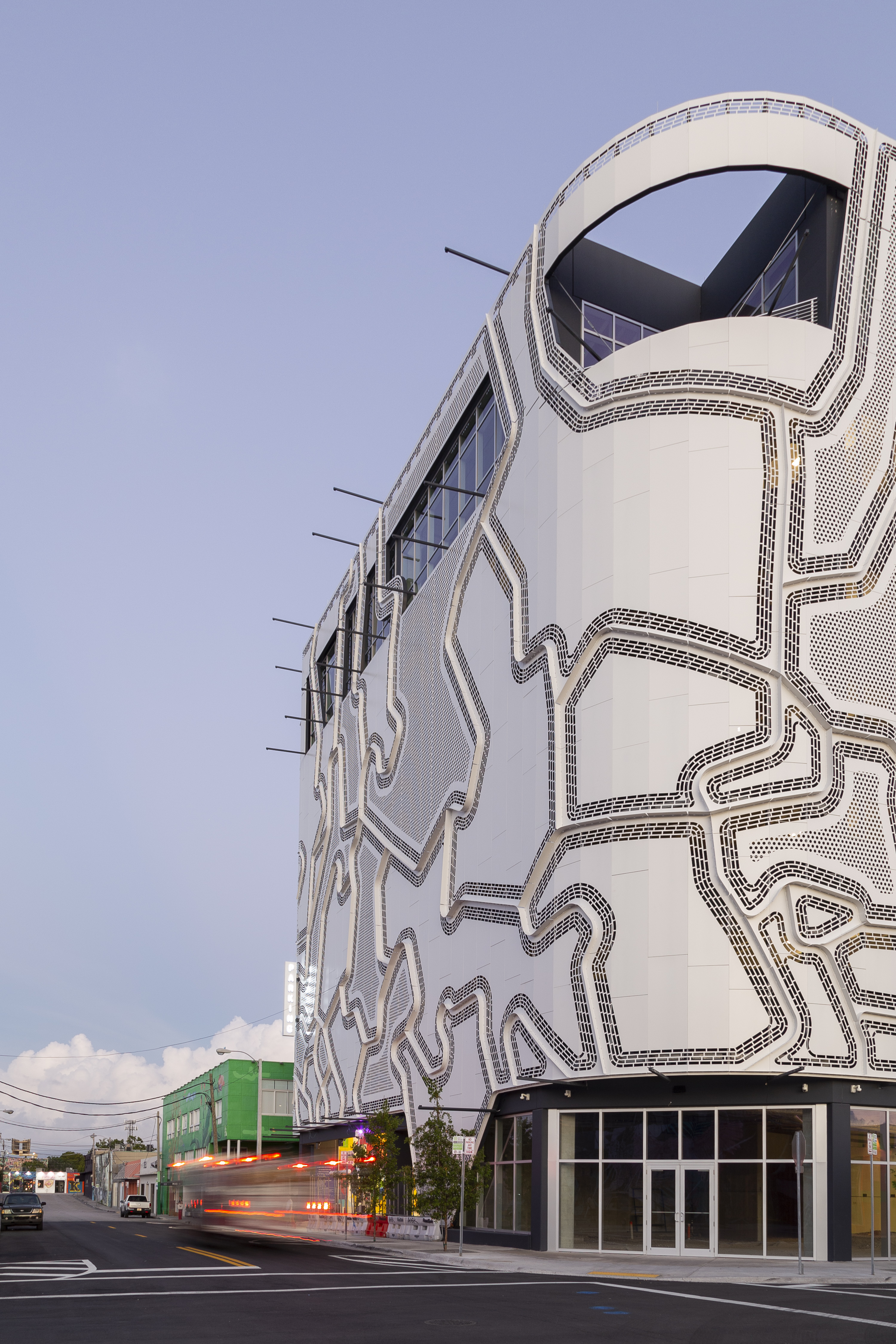 THE WALL IS DESIGNED TO ALLOW FOR ADDITIONAL ARTWORK TO BE HUNG ON THE FAÇADE.