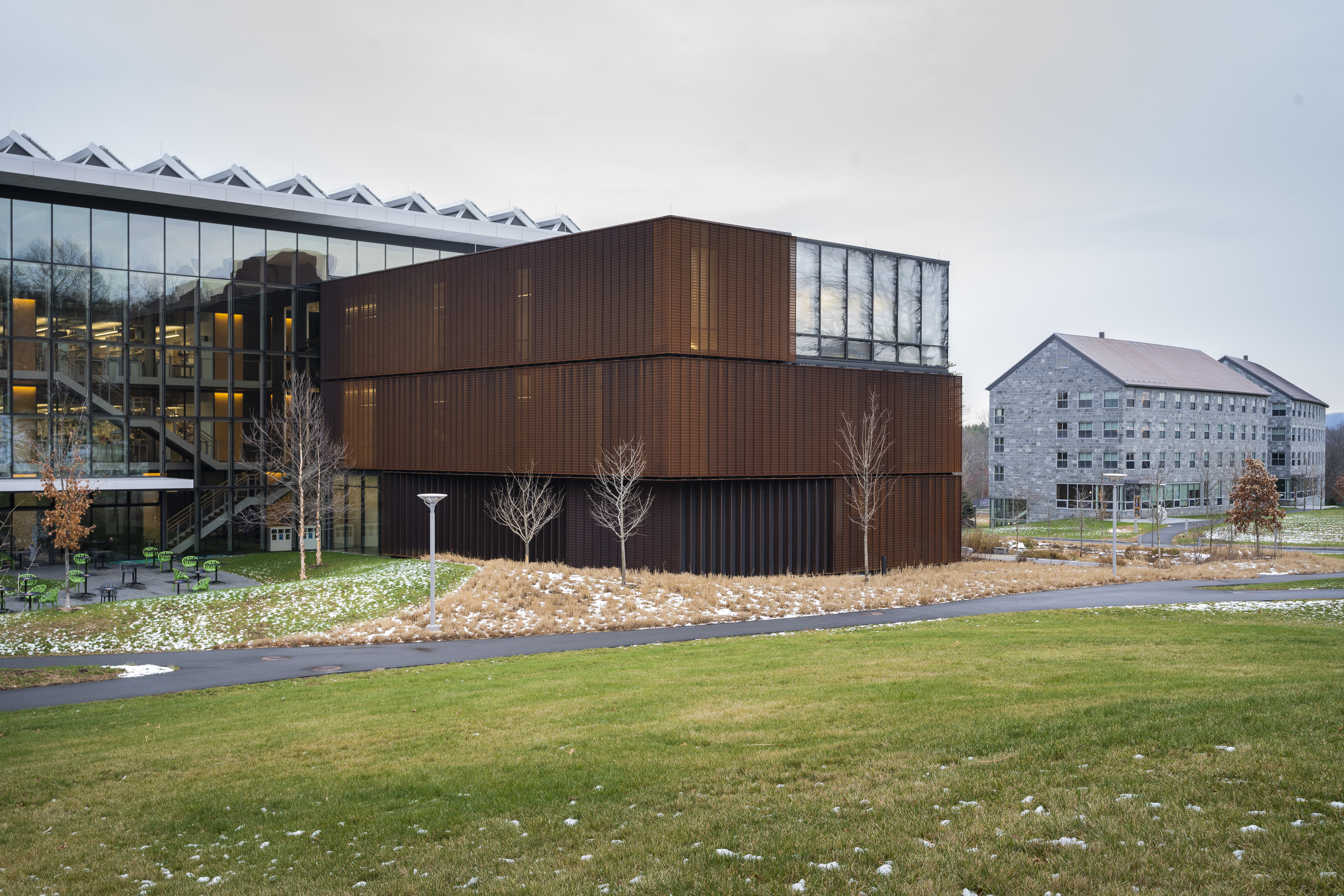 Amherst College's new Science Center building opened in the fall of 2018