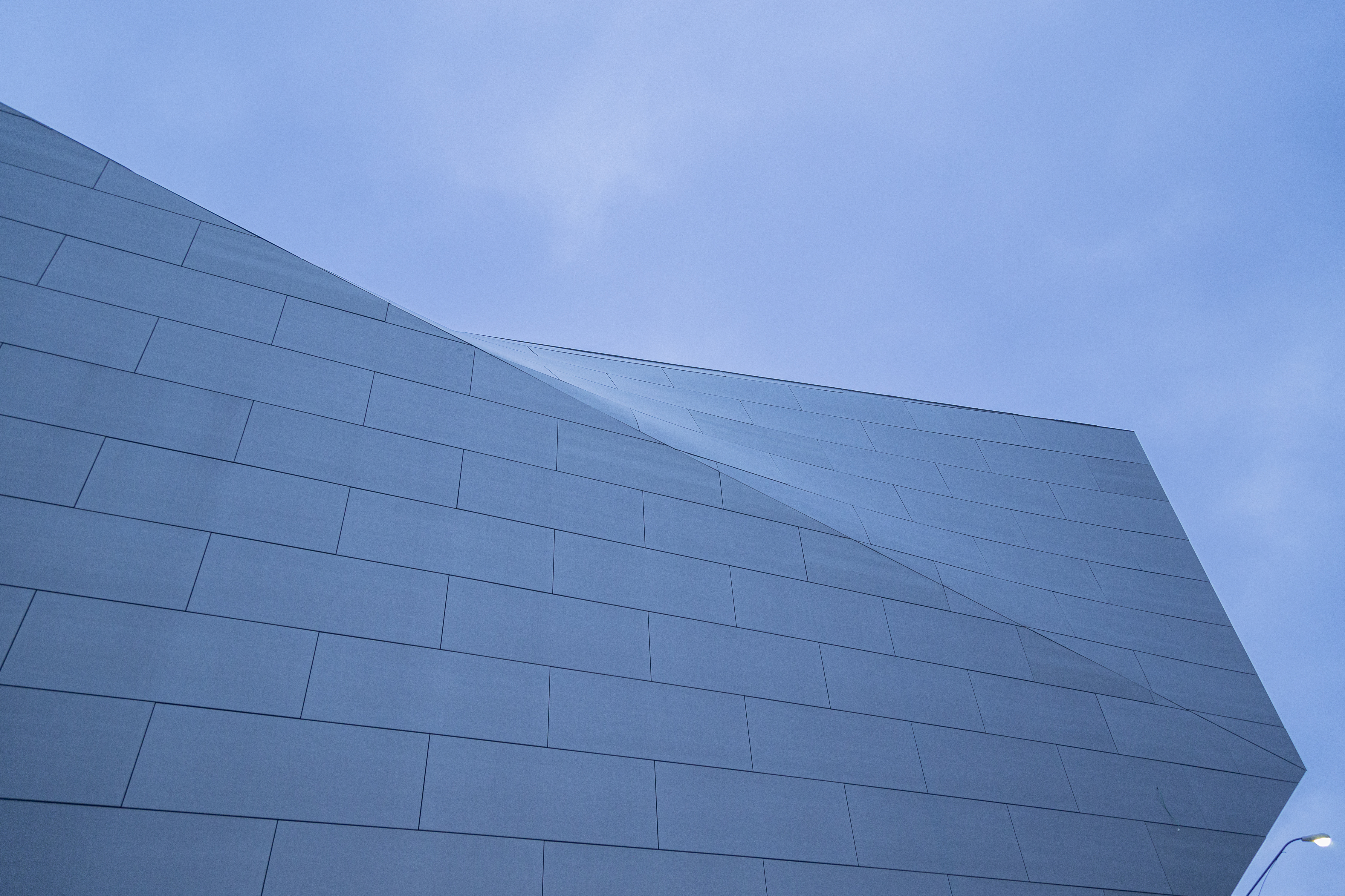 Zahner Internal Fin System (ZIFS) provided for complex geometry and zinc panel supports