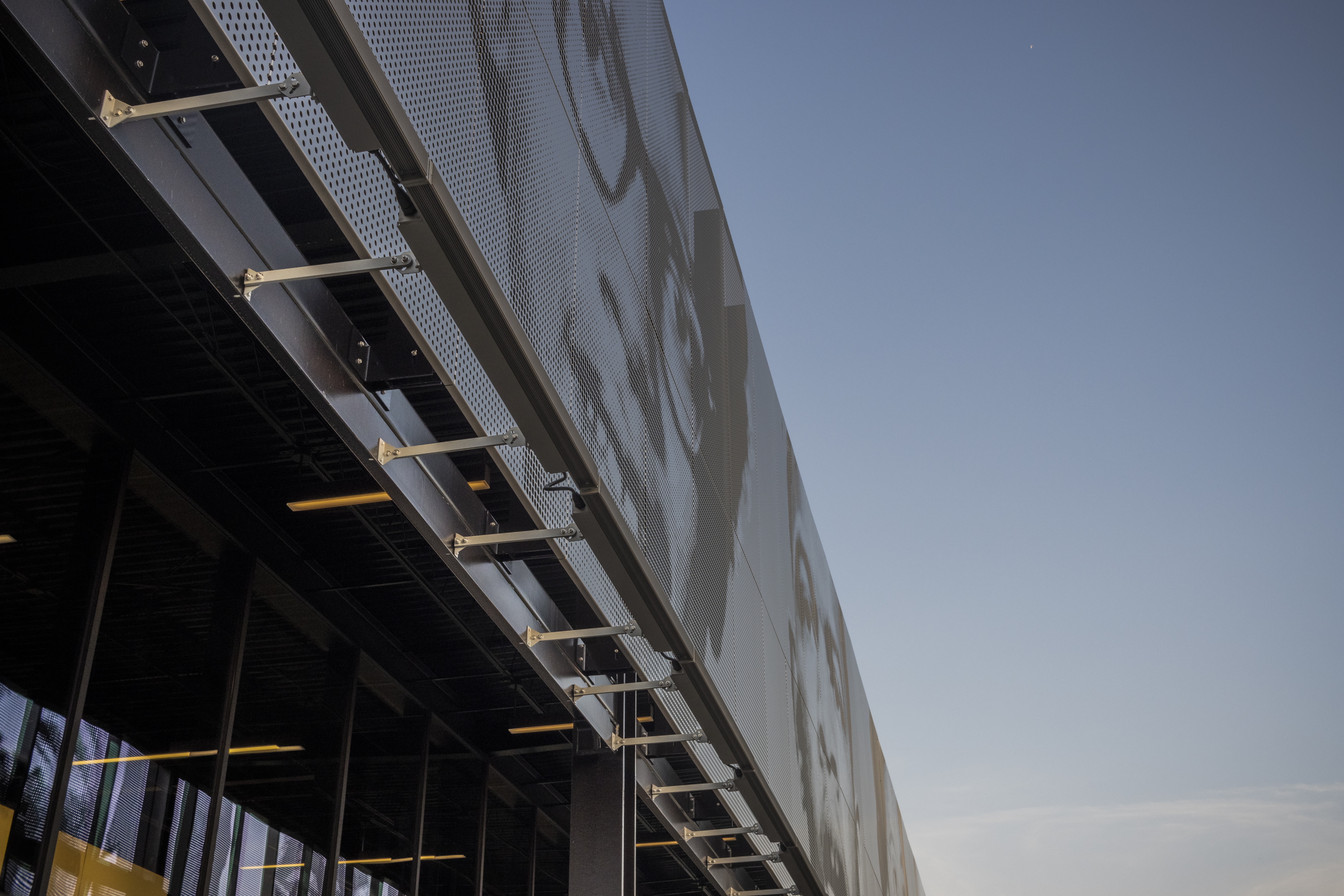 Perspective view of the continuous perforated ImageWall.