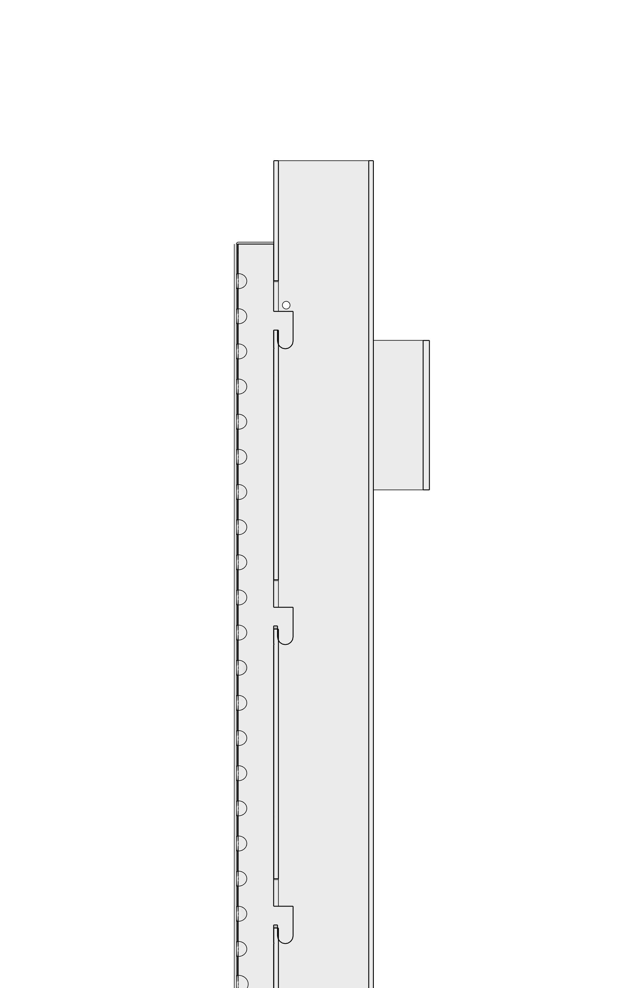 Profile model of installed Drop & Lock panel.