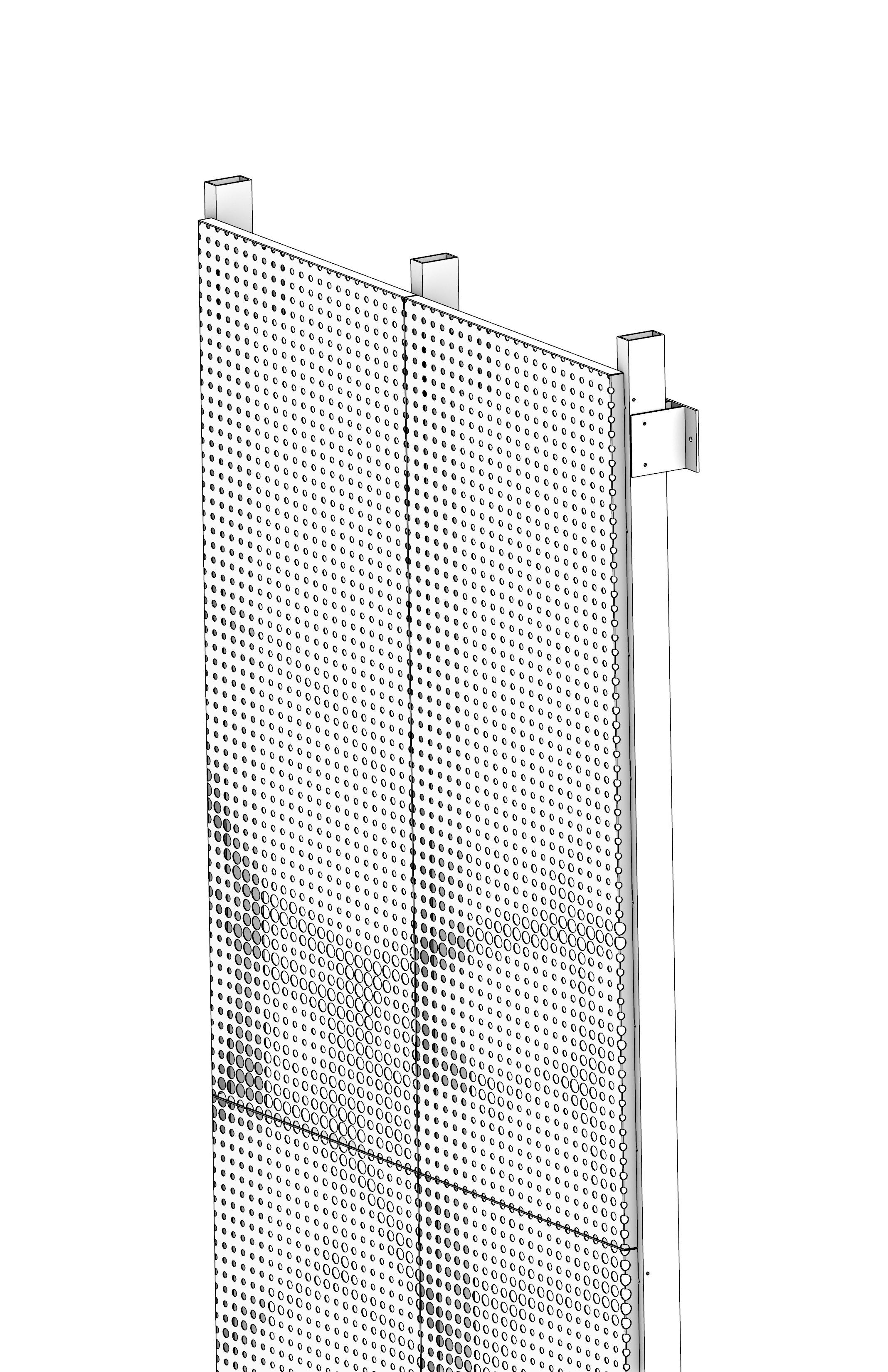 Model of installed Drop & Lock panel.